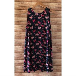 Old Navy Sleeveless Floral Swing Dress Size Large